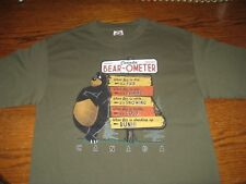 DUCK CO. ADULT T SHIRT FUNNY CANADA BEAR-OMETER WEATHER GREEN SIZE MEDIUM