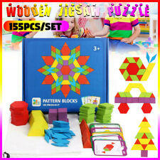 Generic 155Pcs Wooden Jigsaw Puzzle Board Set - Multi-Coloured