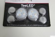 37427 LED 2 x Teelicht Wasserdicht mit je 3 LED Dioden incl. je 2 x Batterien