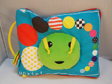 Manhattan Toys Caterpillar Cloth Fabric Baby Book 9 X 8""
