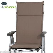 4 x Gartenpolster Auflagen Polster Kissen Stuhlkissen für Hochlehner Gartenstuhl
