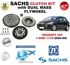 FOR PEUGEOT 307 1.6 HDi + 110 CLUTCH KIT 2004-ON SACHS KIT w FLYWHEEL & BOLTS