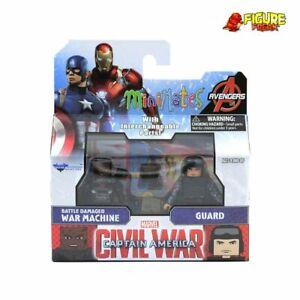 Marvel Minimates Series 66 Civil War Movie Battle Damaged War Machine & Guard
