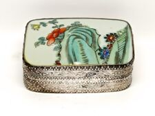Anitque Chinese Sterling Silver Decorative Jewel Box