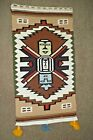 """Vintage Woven Wool Southwest Style  Wall Hanging   18 1/2"""" x 36"""""""