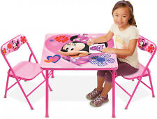 Minnie Mouse Deluxe Kids Fun Eating Art Table and Chair QUALITY Furniture SET