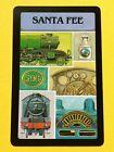 Santa Fe Railroad Engine 506 & Train Parts Single Swap Playing Card