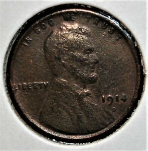 1914-D Lincoln Head Wheat Cent, Better Date