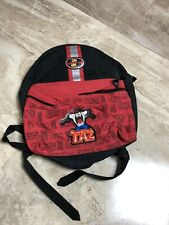 Vintage Looney Tunes Red Backpack Bag Taz Tasmanian Devil 1990s