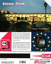 G 1693 195 C&C 3760 SCHEDA TELEFONICA USATA KISSES FROM FIRENZE T 310 31.12.2004