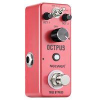 Neewer Digital Octave Guitar Effect Pedal Advanced Effects True Bypass