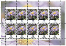 Aster 50 Cent Zehnerbogen postfrisch – Dauerserie Blumen 10er-Bogen – MiNr. 2463