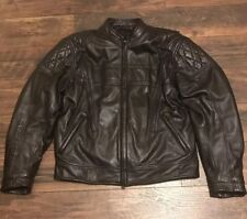 HARLEY DAVIDSON FXRG 98513-00VM VENTED LEATHER RIDING JACKET ZIP OUT LINER SZ L