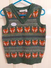 Jojo Maman Bebe Fox Knitted Tank Top 2-3 Years