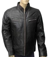 New Men's 100% Real Leather Motorbike/Motorcycle/Brown color JACKET Size-L -10