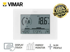 "Vimar 02910 Climachrono Cronotermostato Touch Screen da parete ""New 01910 Touch"""