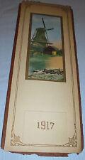 """Windmill, Water, Log Buildings, """"The Old Landmark"""" Salesman Sample Calendar 1919"""