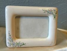 Picture Frame, Porcelain Cream Color with Multi-Colored Flowers