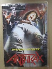ANTRAX  Poster rock heavy metal 1980's spreading the disease Inv#G926