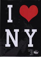 I LOVE NY - NEW YORK - PLAQUE EN METAL - 15 x 21 CM - BAR & DECO - NEUF