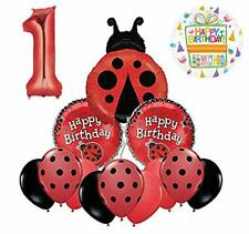 Mayflower Products Ladybug 1st Birthday Party Supplies Balloon Bouquet Décor