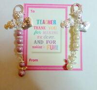 Thank you gift for Teacher End Term Leaving Present Handbag Charm Personalised