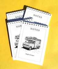 Notepads Jotter Memo Writting Pads A6 Bedford Camper pack of 4 Gift Set