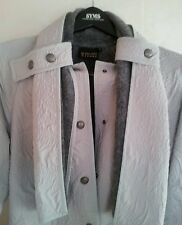 Powder blue-gray (mohair/wool combo lining) trench coat women (Made in France)