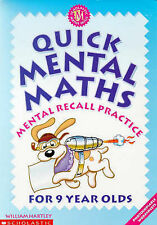 QUICK MENTAL MATHS FOR 9 YEAR-OLDS By William Hartley Good Condition