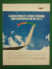 9/2004 PUB AVION BOEING 737 AIRLINER BLENDED WINGLETS ORIGINAL GERMAN AD