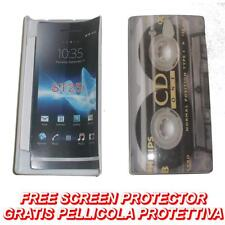 Pellicola+custodia BACK COVER RIGIDA CDONE per Sony Xperia U ST25I