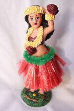 NEW Hawaiian Hawaii Dashboard Hula Doll RED Skirt Dancer Girl with ULIULI #40605