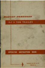 MASSEY Ferguson 18-7 5 Ton Rimorchio operatori manuale-MF18