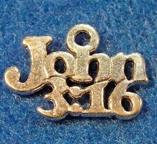 """50Pcs. WHOLESALE Tibetan Silver """"John 3:16"""" Bible Religion Charm Ear Drops Q0646"""