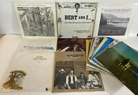 Lot of 20 Vtg Bluegrass Folk Record LPs Private Label Rock Country Rare VG Vinyl