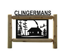 PERSONALIZED CABINS SIGNS - LOG CABIN DECOR