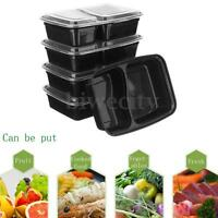 10Pcs Microwave Safe Plastic Box Meal Prep Food Storage Container + Lid Takeaway