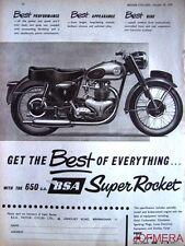 1958 Motor Cycle ADVERT - B.S.A. '650 Super Rocket' (£283-3s-8d) Print AD #4