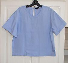 NWT J Crew true blue oxford cloth rolled sleeve top sz 8 C0469