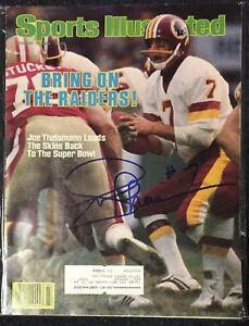 Joe Theismann Signed Sports Illustrated 1/16/84 Issue NFL Redskins