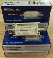 Mix Digital Inline Satellite Amplifier 20db SAT AMP Signal Booster