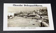 PHOTO CHOCOLAT DELESPAUL-HAVEZ 1950 COLONIES FRANCE AFRIQUE ALGERIE BONE ANNABA