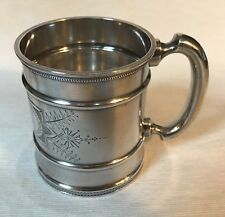 Antique baby cup or mug, sterling silver, Wood & Hughes of NY, c. 1870s
