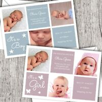 Personalised PHOTO Thank You Cards ~ Announcement/Christening. Baby Girl/Boy D86