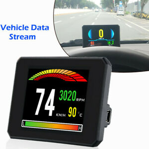 Universal Car HUD Head Up Display Digital GPS Speedometer Overspeed Alarm OBD2