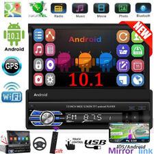"""1 Din 7"""" Android 10.1 Radio de coche GPS estéreo con apertura manual + Cámara"""