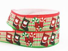 Crafting Decoration Christmas Ribbon Prints Single Face For Accessories Supplies