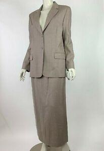 Pendleton Virgin Wool Pant Skirt 3 PC Set Jacket Blazer Lined Women 10 12 NWT