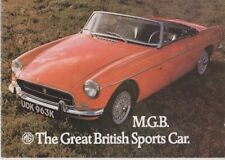 MG MGB  THE GREAT BRITISH SPORTS CAR ORIG FACTORY   SALES BROCHURE PUB N0 2865