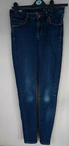 ArmedAngels Skinny Fit Mid Rise Dark Blue jeans vgc 28W 30L 5inch wide stretch